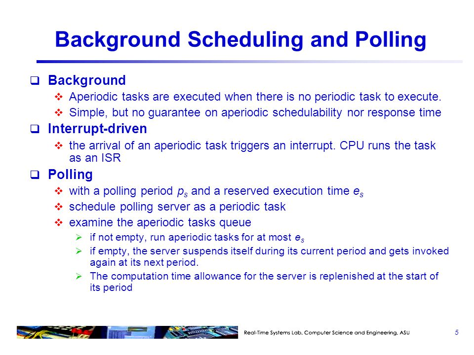 Background Scheduling and Polling