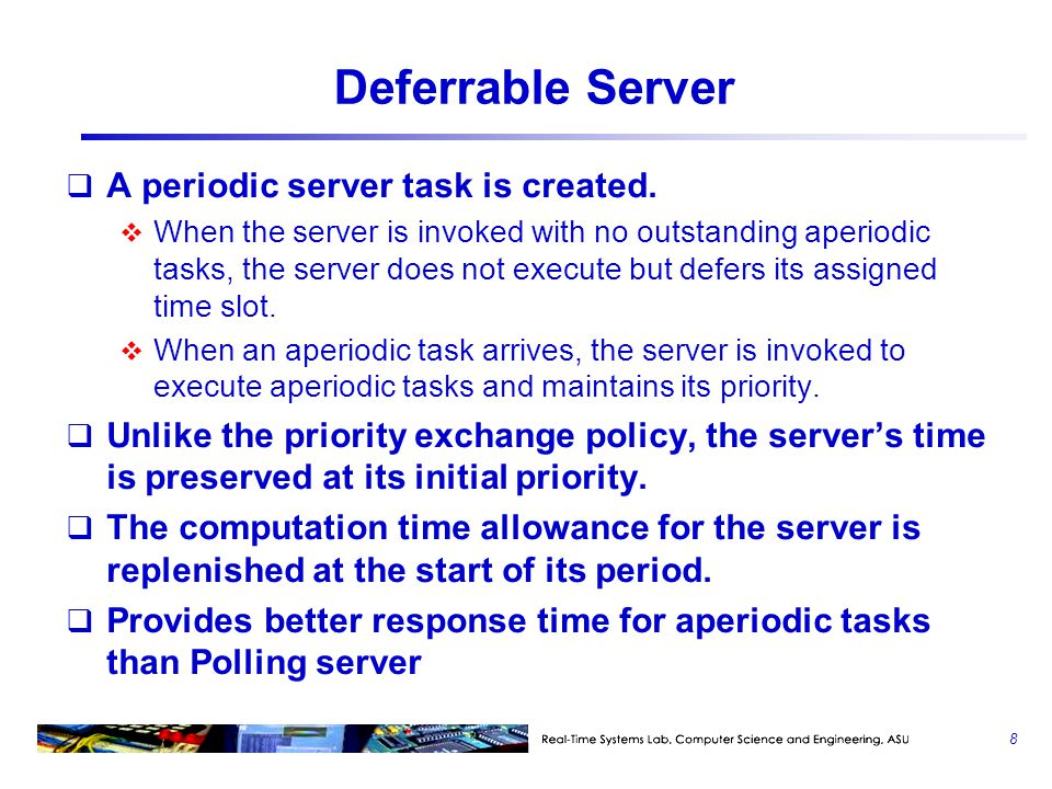 Deferrable Server A periodic server task is created.