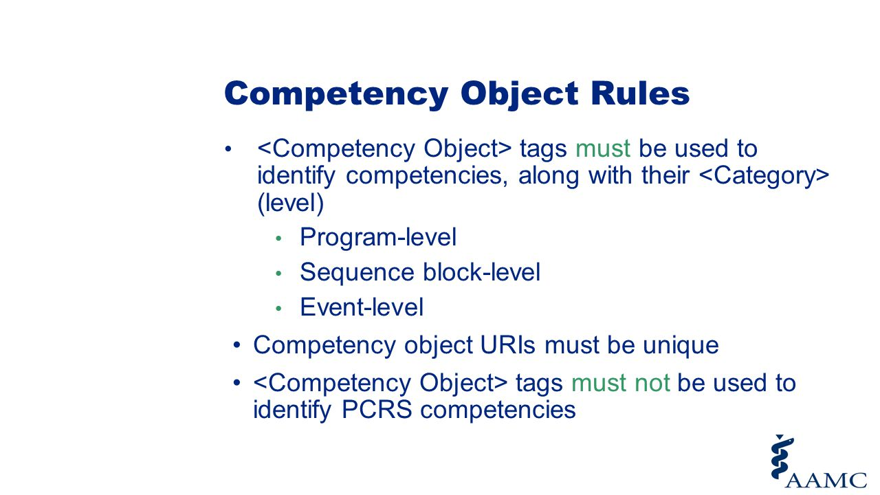 Competency Object Rules