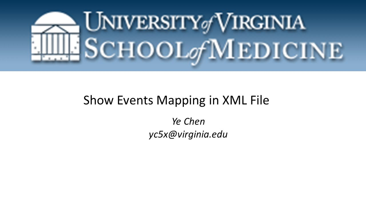Show Events Mapping in XML File