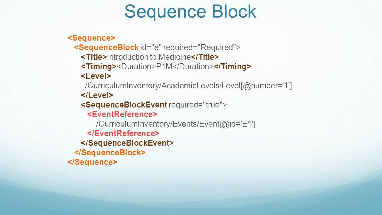 Sequence Block