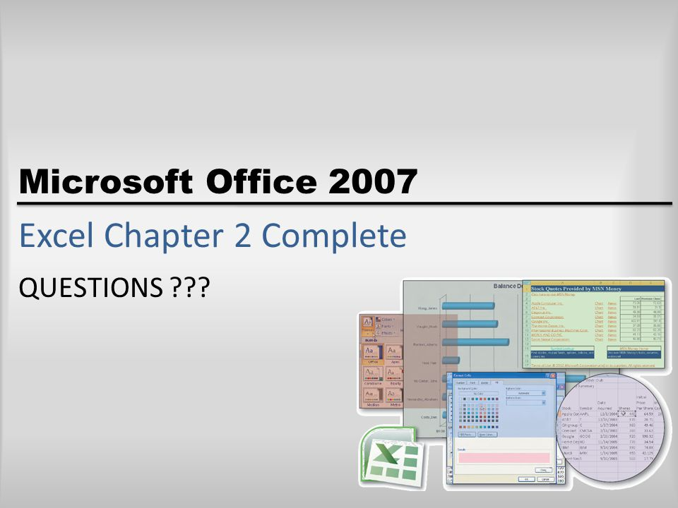 Excel Chapter 2 Complete