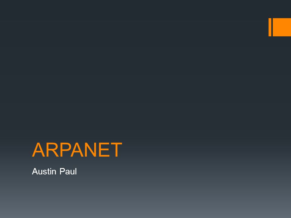 ARPANET Austin Paul