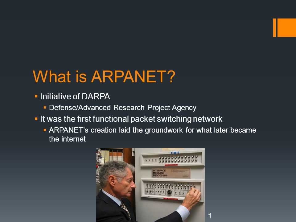 What is ARPANET Initiative of DARPA