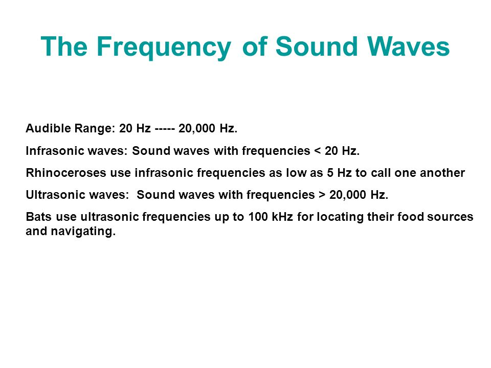 The Frequency of Sound Waves