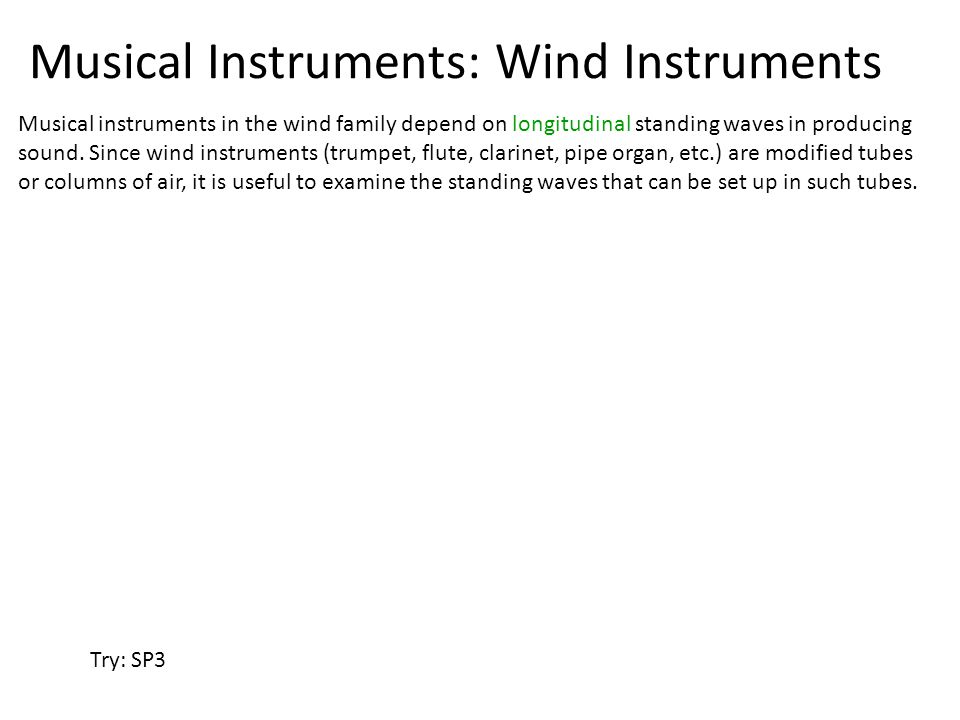 Musical Instruments: Wind Instruments