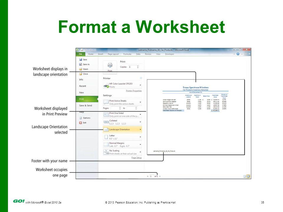 Format a Worksheet Figure 1.53 <#>