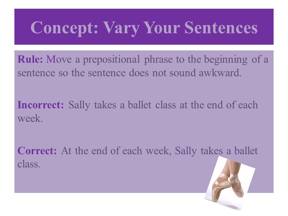 Concept: Vary Your Sentences