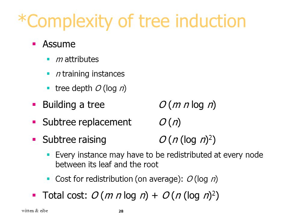*Complexity of tree induction