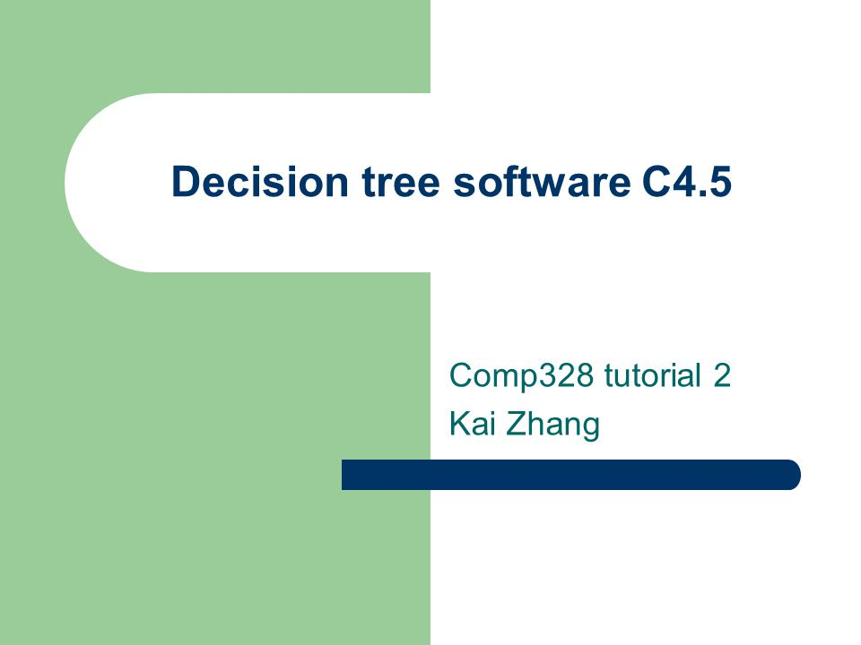 Decision tree software C4.5