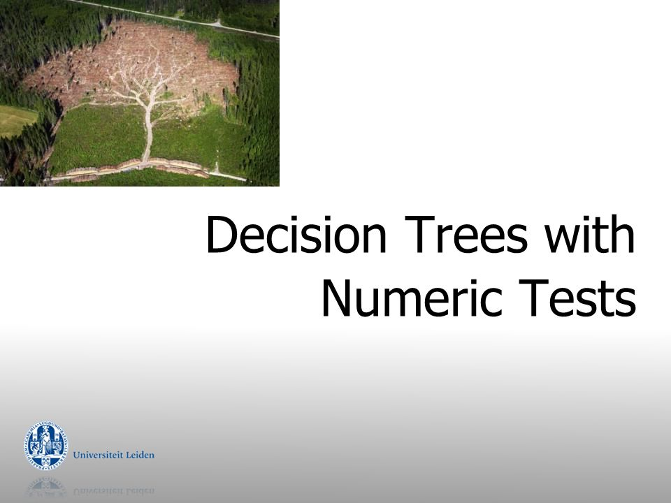 Decision Trees with Numeric Tests