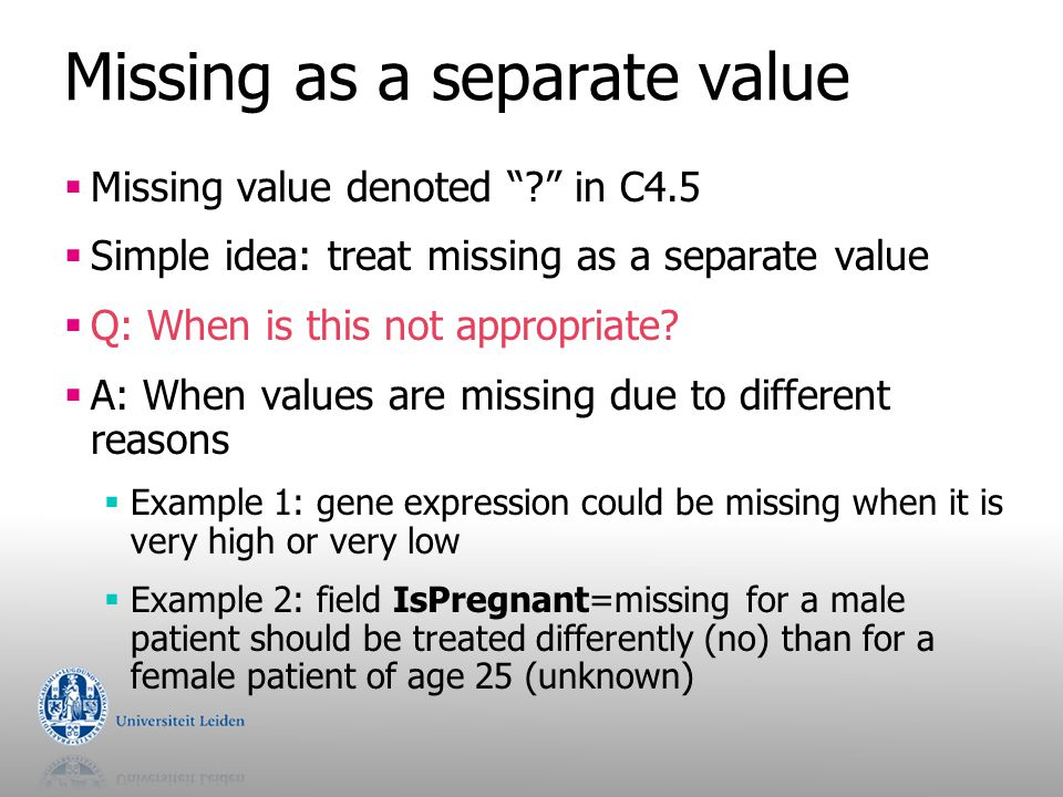 Missing as a separate value