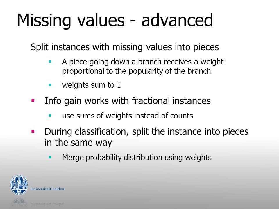Missing values - advanced