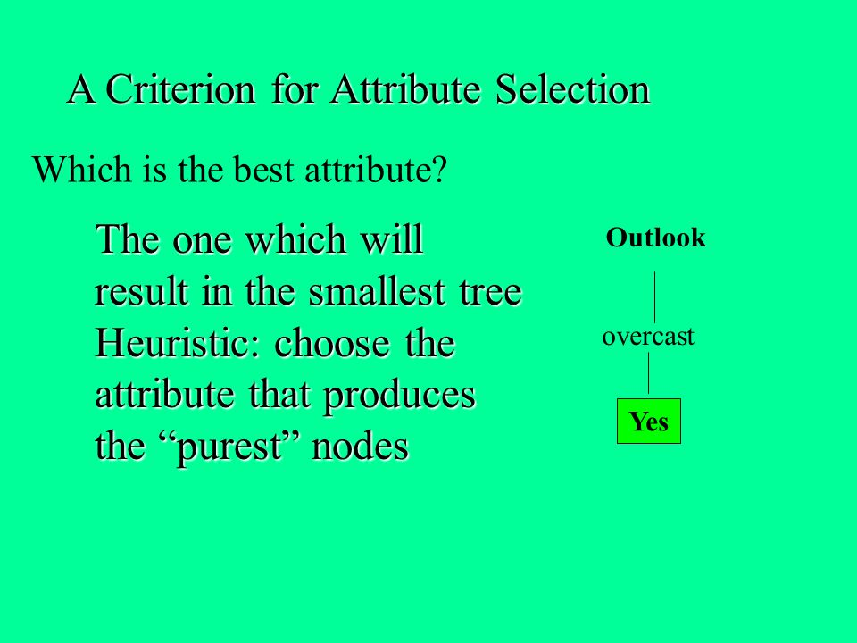 Which is the best attribute
