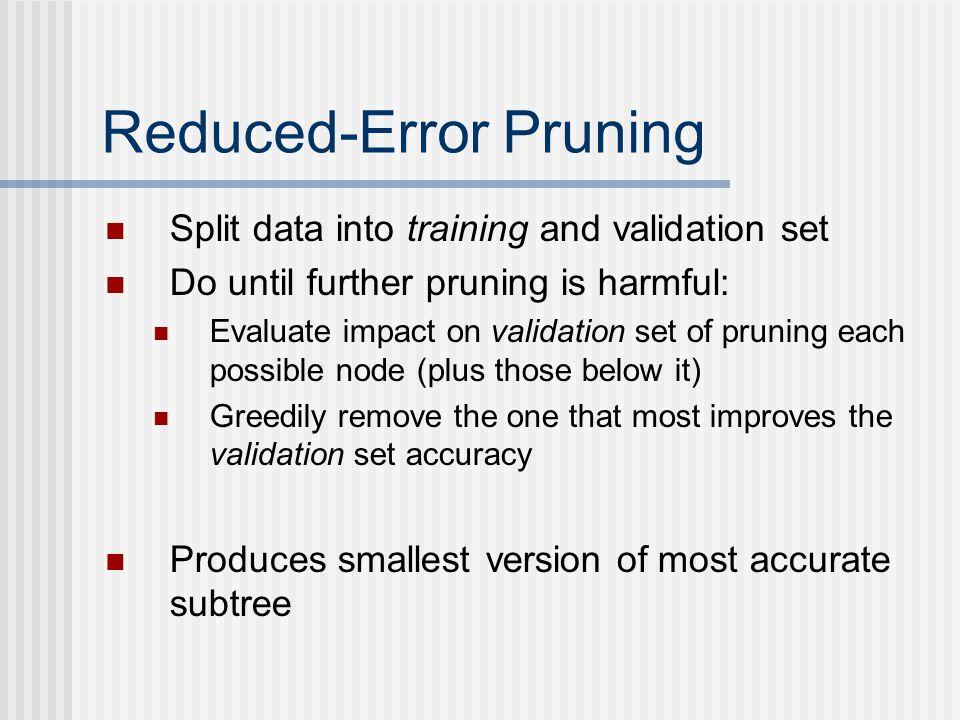 Reduced-Error Pruning