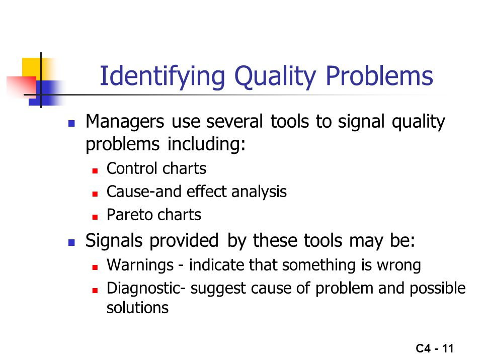 Identifying Quality Problems