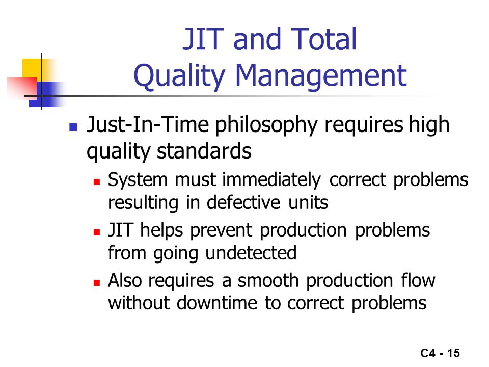 JIT and Total Quality Management