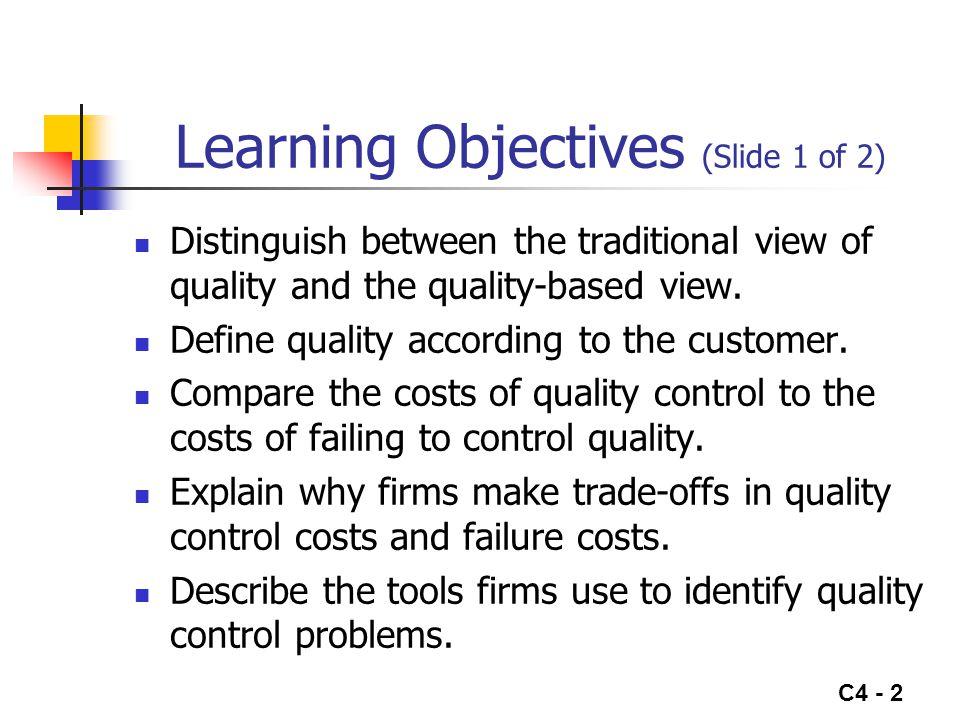Learning Objectives (Slide 1 of 2)