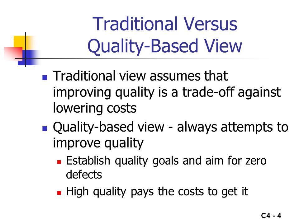 Traditional Versus Quality-Based View