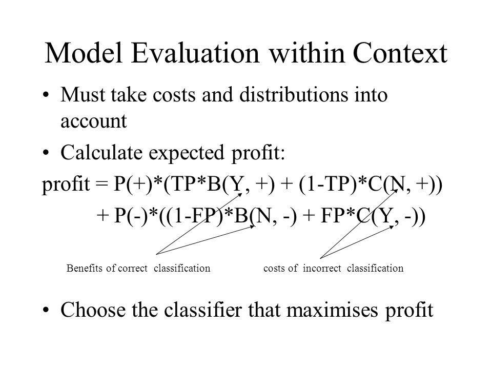 Model Evaluation within Context