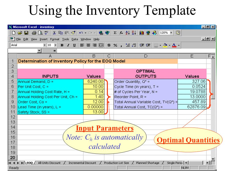 Using the Inventory Template