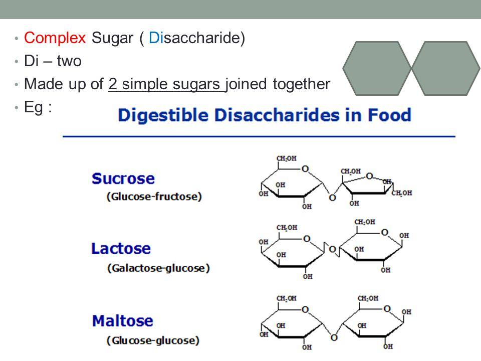 Complex Sugar ( Disaccharide)