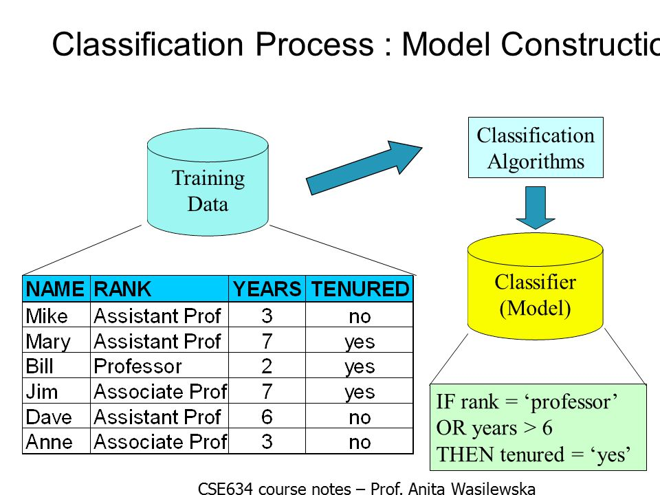 Classification Process : Model Construction
