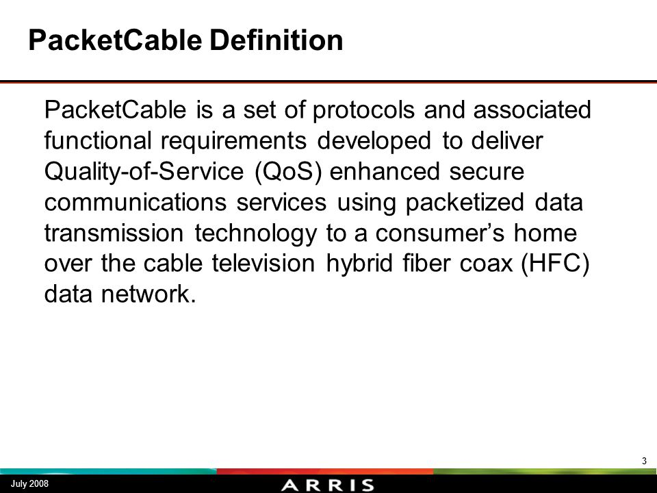 PacketCable Definition