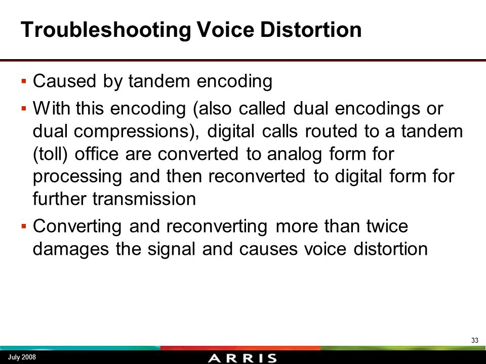 Troubleshooting Voice Distortion