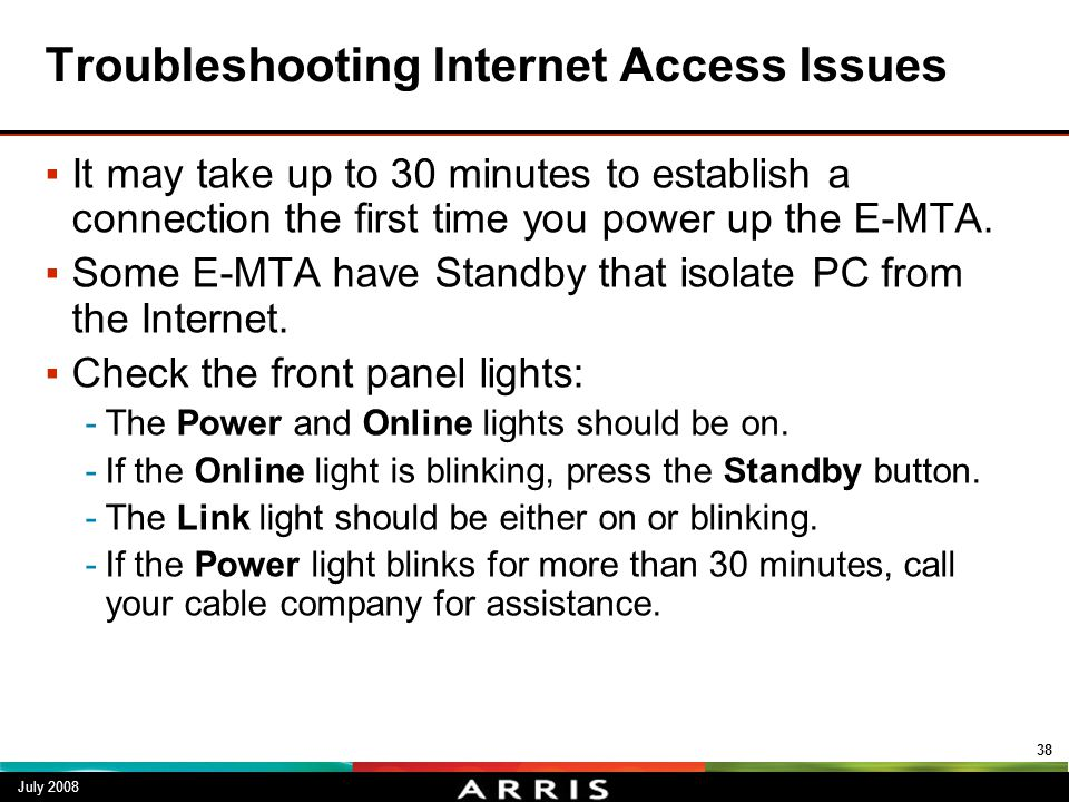 Troubleshooting Internet Access Issues