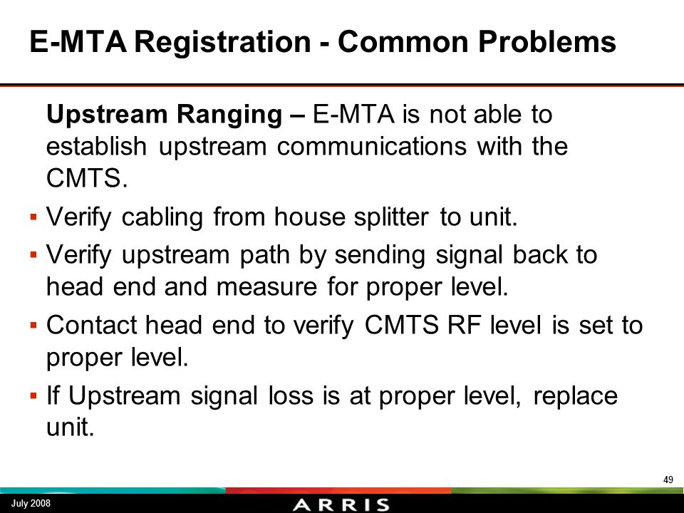 E-MTA Registration - Common Problems