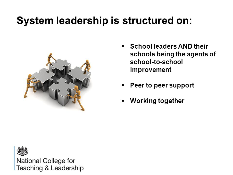 System leadership is structured on: