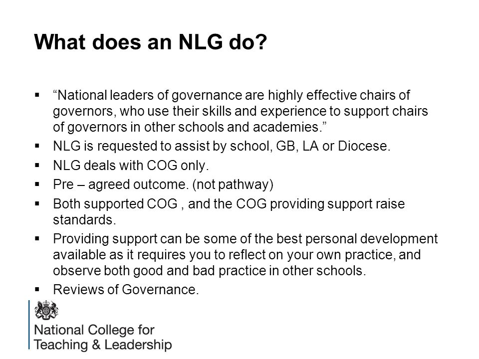 What does an NLG do