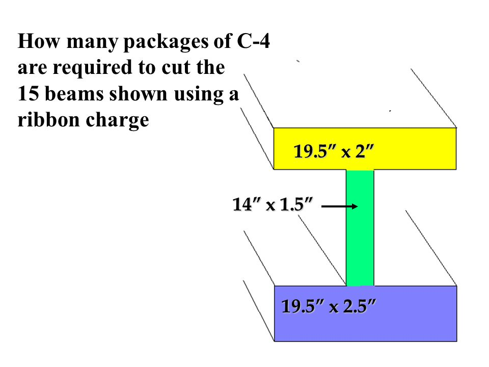 How many packages of C-4 are required to cut the