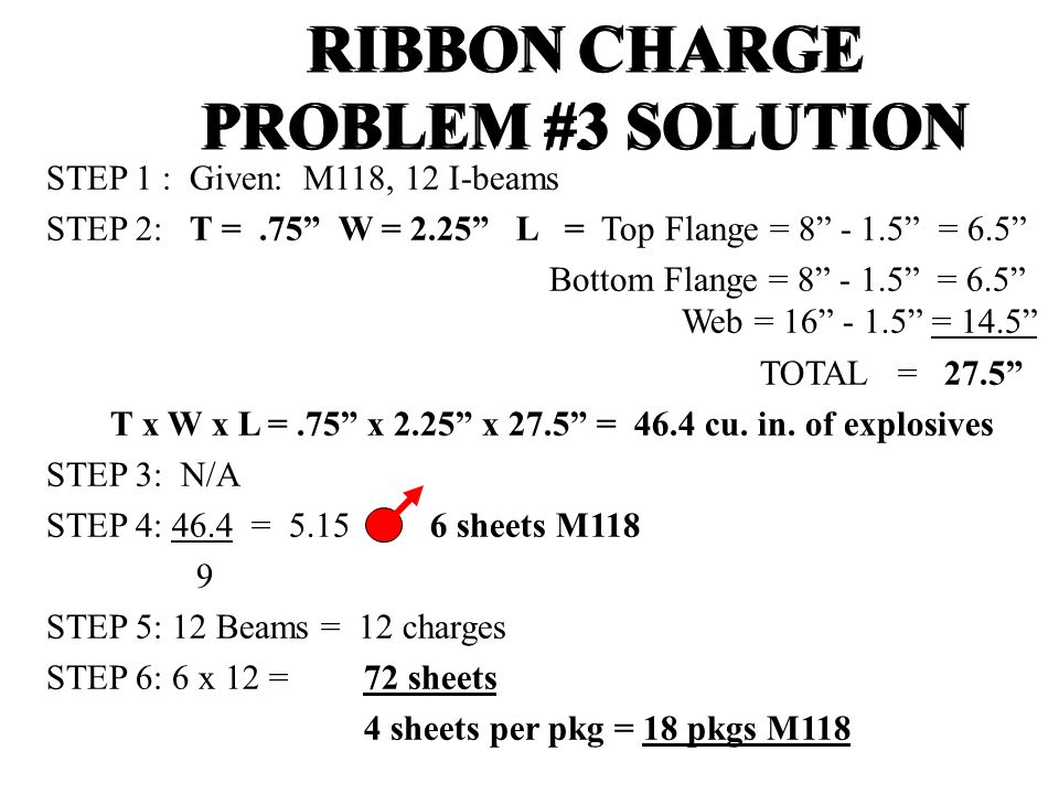 RIBBON CHARGE PROBLEM #3 SOLUTION