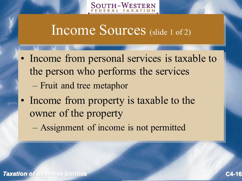 Income Sources (slide 1 of 2)