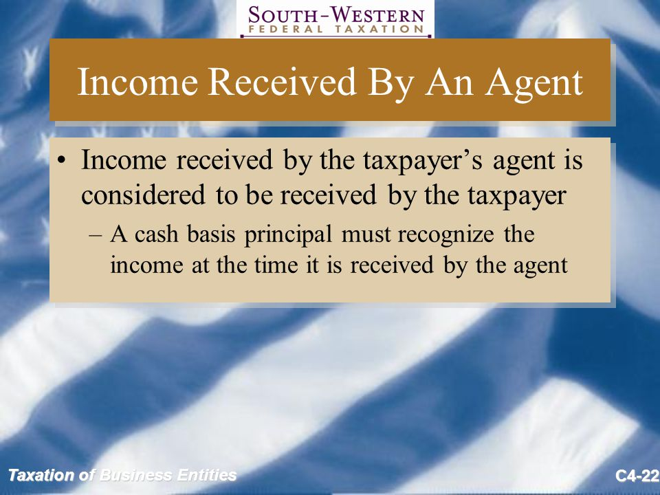 Income Received By An Agent