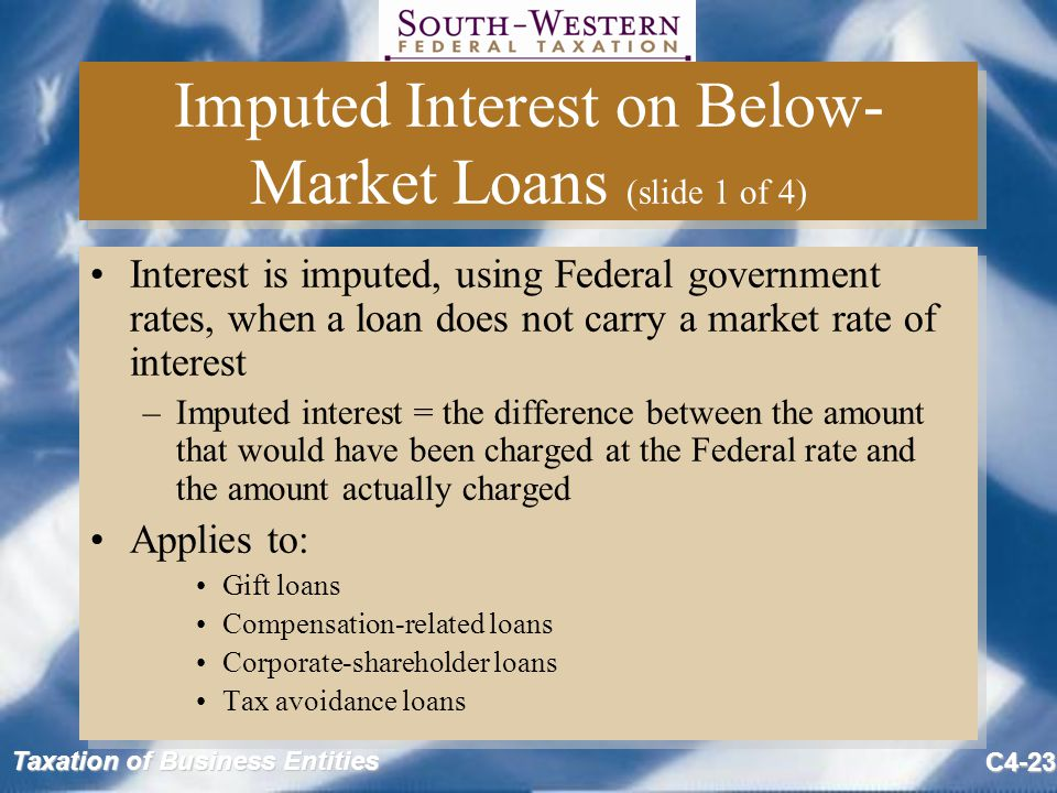 Imputed Interest on Below-Market Loans (slide 1 of 4)
