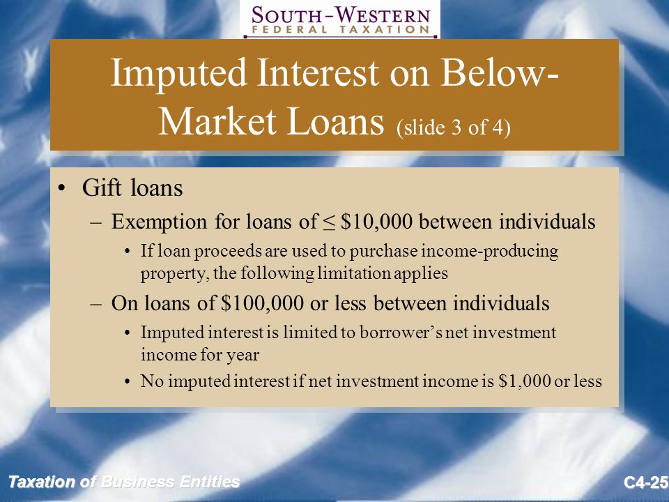 Imputed Interest on Below-Market Loans (slide 3 of 4)