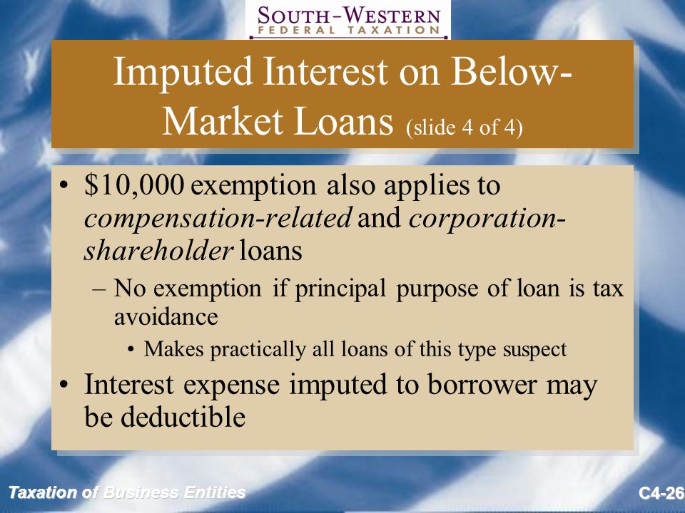 Imputed Interest on Below-Market Loans (slide 4 of 4)