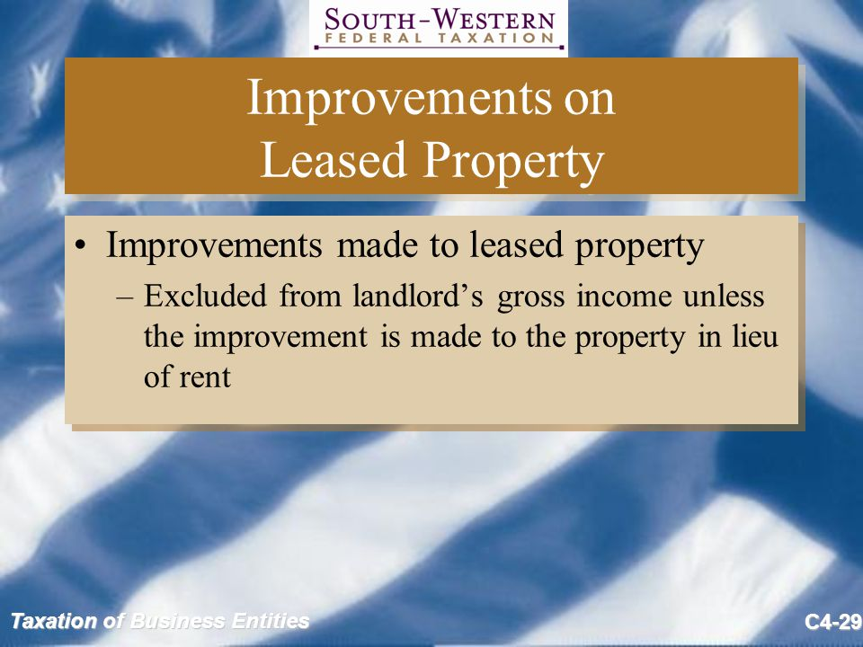 Improvements on Leased Property