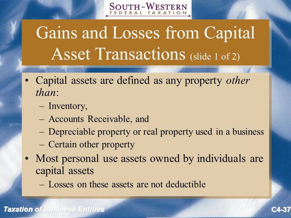 Gains and Losses from Capital Asset Transactions (slide 1 of 2)