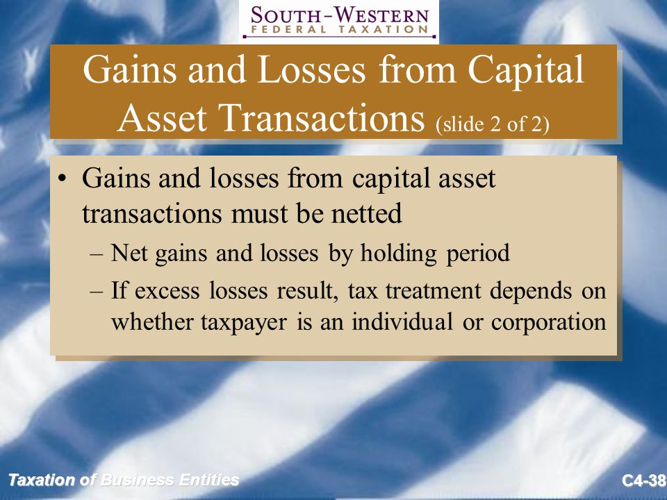 Gains and Losses from Capital Asset Transactions (slide 2 of 2)