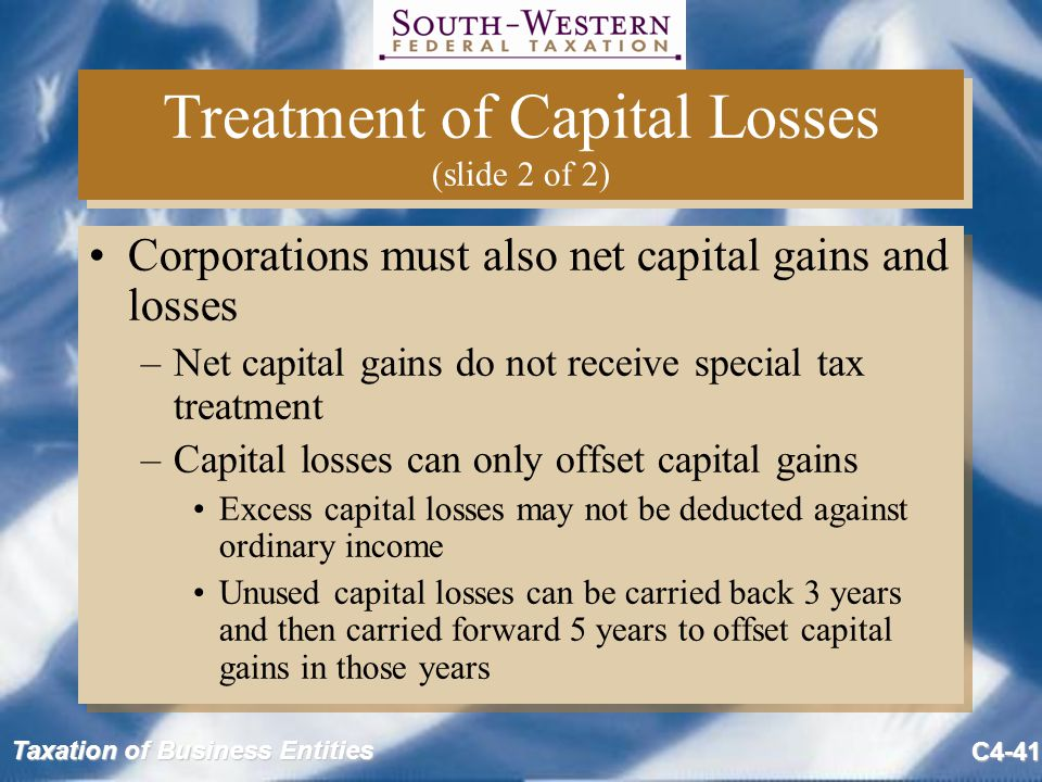 Treatment of Capital Losses (slide 2 of 2)