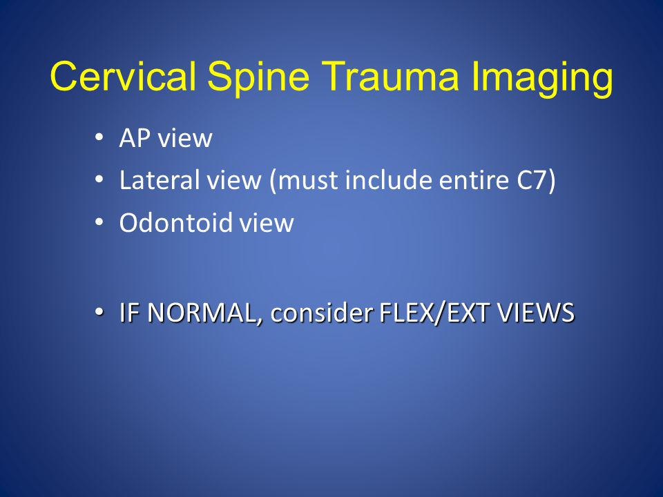 Cervical Spine Trauma Imaging