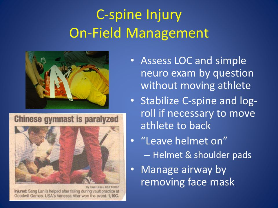 C-spine Injury On-Field Management