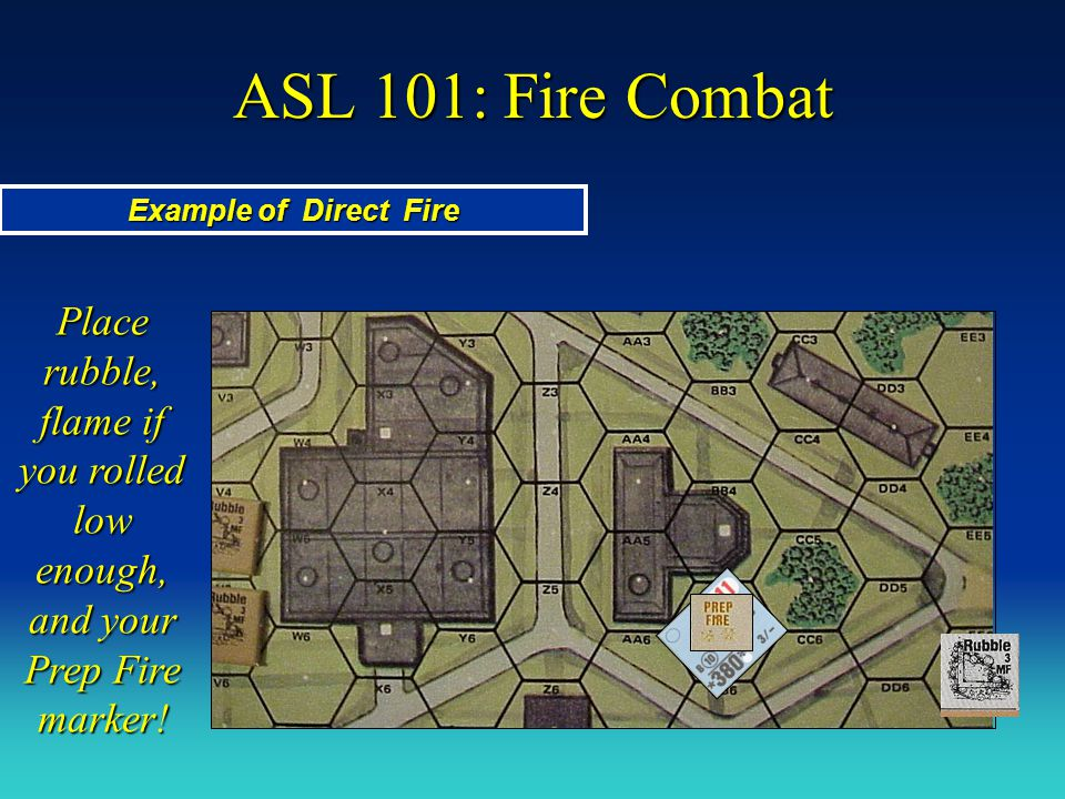 ASL 101: Fire Combat Example of Direct Fire.