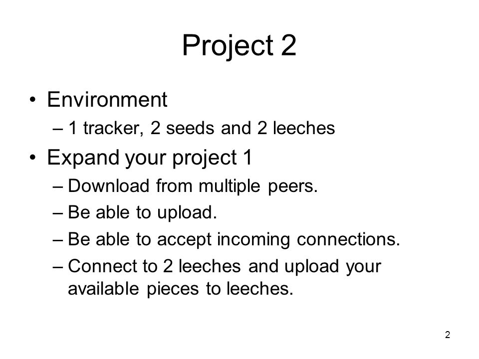 Project 2 Environment Expand your project 1