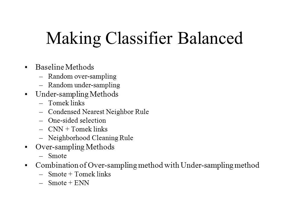 Making Classifier Balanced