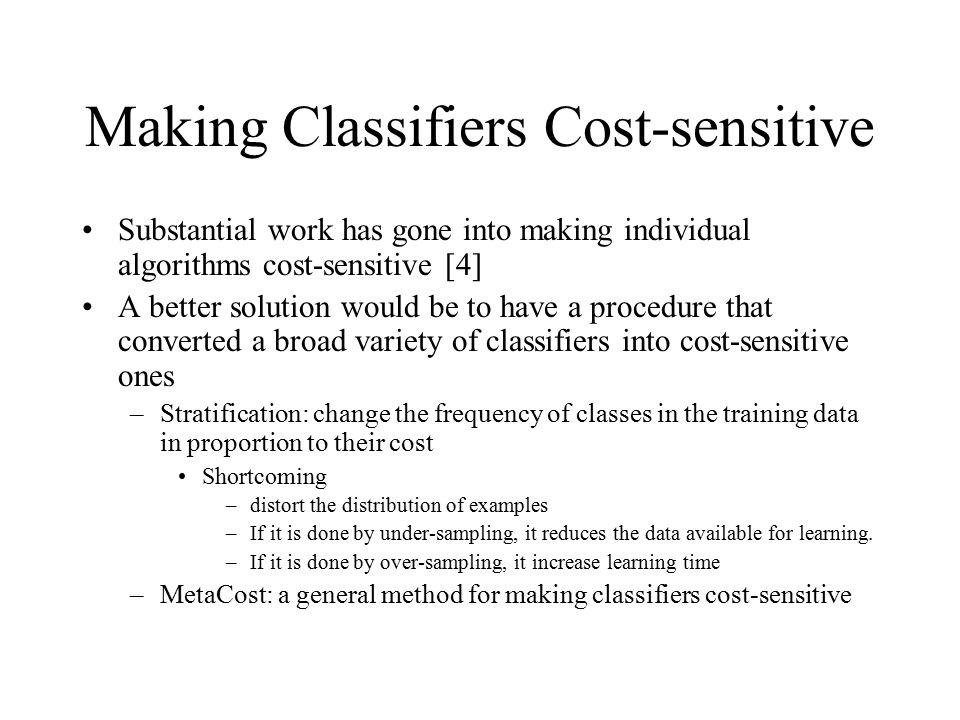 Making Classifiers Cost-sensitive